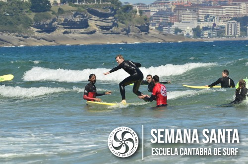 Surfing course at holy week